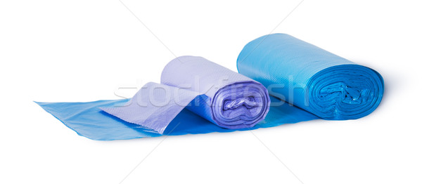 Blue and violet rolls of plastic garbage bags Stock photo © Cipariss