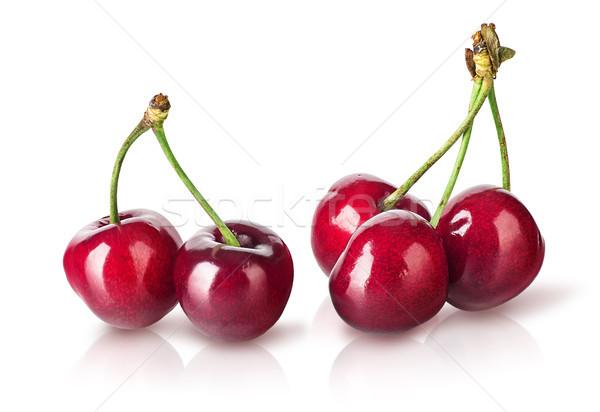 Several perfect sweet cherries Stock photo © Cipariss