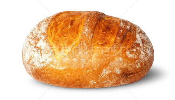 In front loaf of white round bread Stock photo © Cipariss