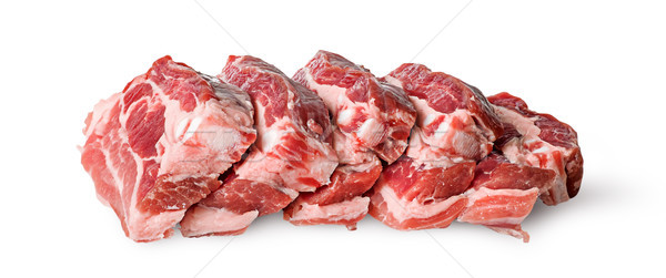 Raw pork belly slices horizontally in row Stock photo © Cipariss