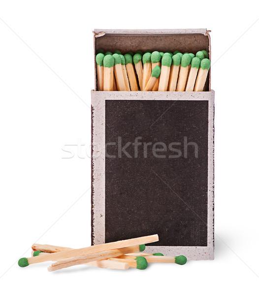 Abrir caixa fósforos vários isolado Foto stock © Cipariss