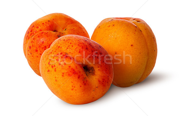 Three juicy ripe apricot Stock photo © Cipariss