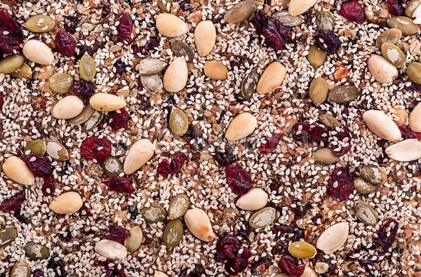 Stok fotoğraf: Granola · bar · soyut · üst · görmek · gıda
