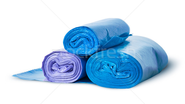 Three rolls of plastic garbage bags rotated Stock photo © Cipariss