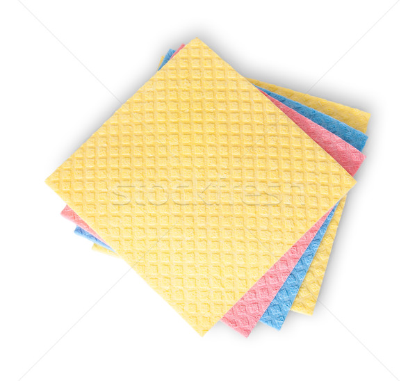 Multicolored sponges for dishwashing Stock photo © Cipariss