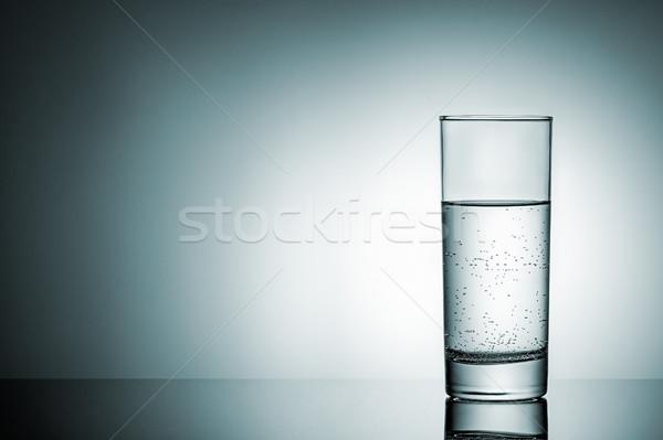 üveg víz tükröződés gradiens világítás háttér Stock fotó © Cipariss