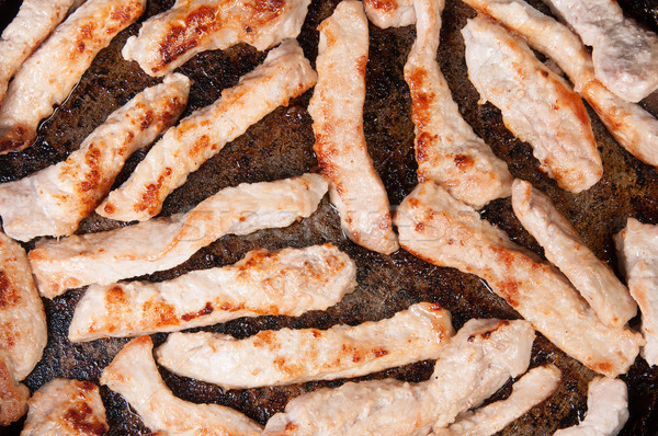 Meat Strips Fried In A Pan Stock photo © Cipariss