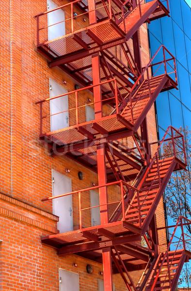огня бежать фасад новых офисное здание дома Сток-фото © Cipariss