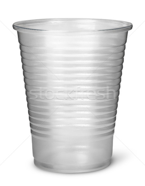 Single plastic cup vertically Stock photo © Cipariss
