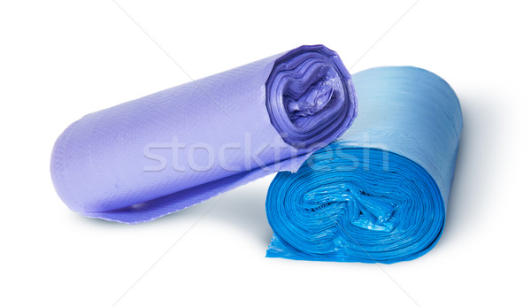 Two multicolored rolls of plastic garbage bags Stock photo © Cipariss