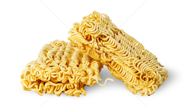 Two pieces noodles of fast preparation Stock photo © Cipariss