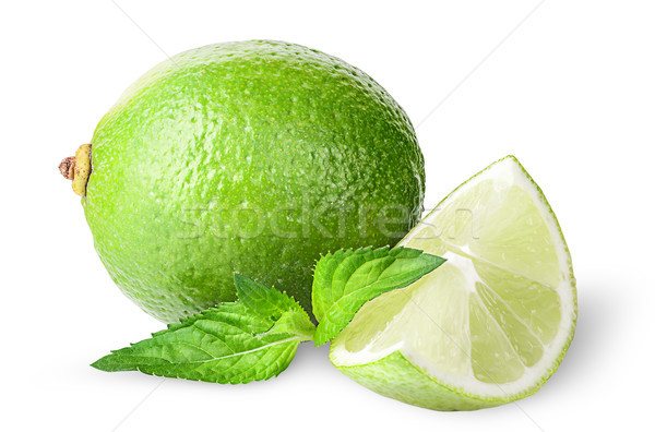 Lime and sprig of mint Stock photo © Cipariss