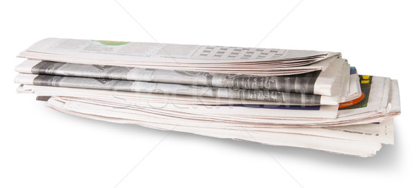 Rolled Of The Newspaper Stock photo © Cipariss