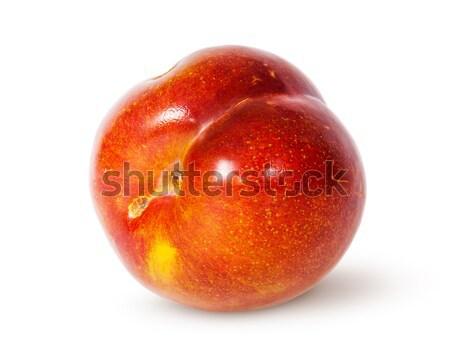 Stock photo: Single yellow and red plum horizontally