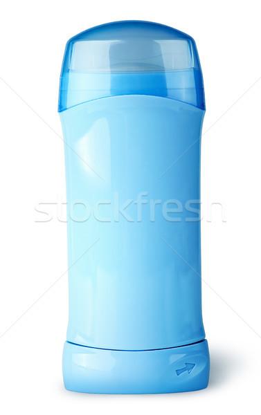 Azul desodorante recipiente boné isolado branco Foto stock © Cipariss