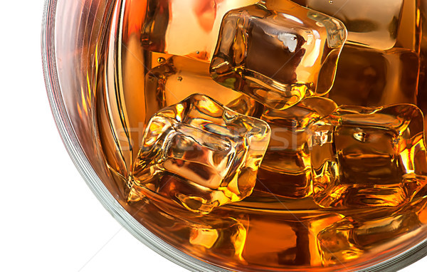 Top closeup of whiskey with ice Stock photo © Cipariss