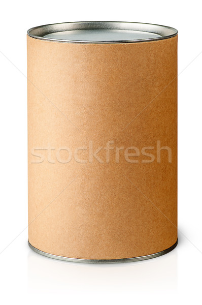Cardboard tube with metal lids vertically Stock photo © Cipariss