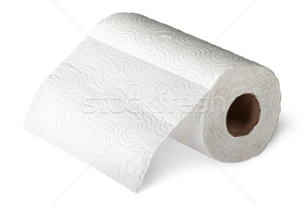 Rulo beyaz kâğıt yalıtılmış ev Stok fotoğraf © Cipariss
