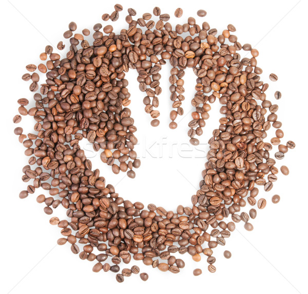 Hand Silhouette On Coffee Grains Stock photo © Cipariss