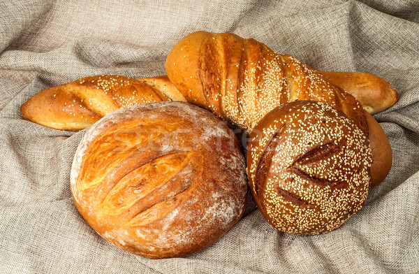 Various grades of bread in the middle of a sacking Stock photo © Cipariss
