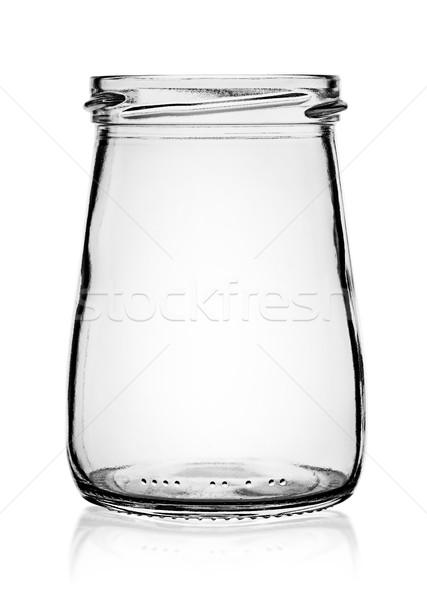 Empty glass jar without cap Stock photo © Cipariss