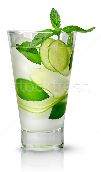 Mojito with ice in glass Stock photo © Cipariss
