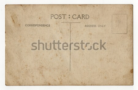 Briefkaart kant oude grunge textuur mail Stockfoto © cla78