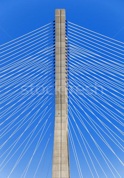 Gamma híd Lisszabon város épület absztrakt Stock fotó © cla78
