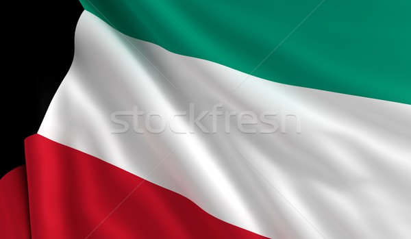 Flag of Kuwait Stock photo © cla78