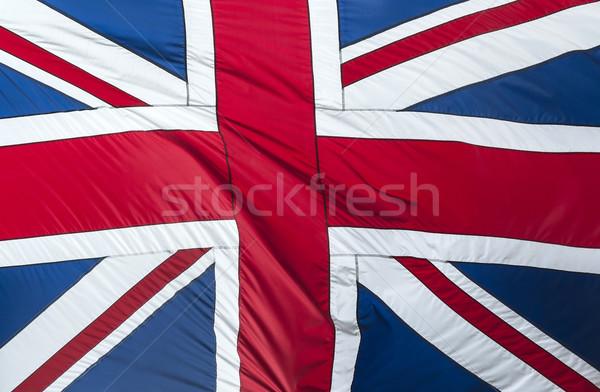 Gran bretaña bandera primer plano textura tejido Foto stock © cla78