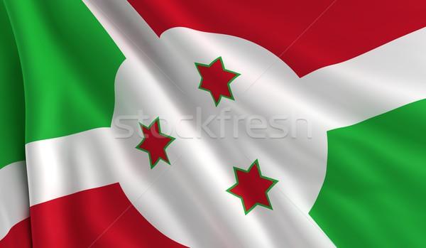 Bandeira Burundi vento textura fundo verde Foto stock © cla78