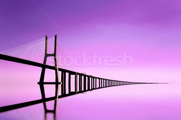Gamma híd Lisszabon város víz épület Stock fotó © cla78