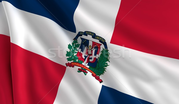 Flag of Dominican Republic Stock photo © cla78