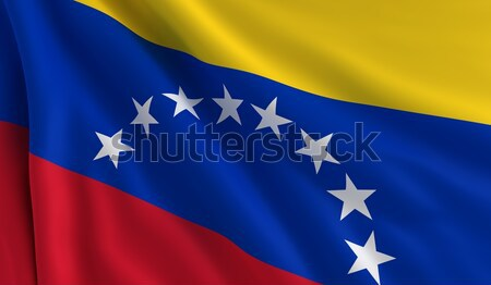 Vlag Venezuela wind textuur achtergrond Blauw Stockfoto © cla78