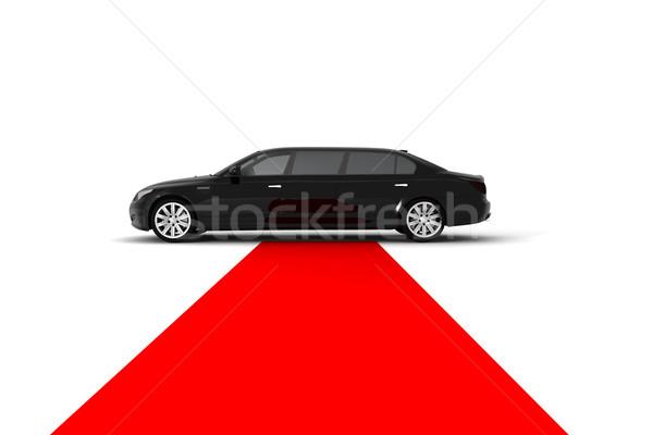 Fekete limuzin vörös szőnyeg autó film siker Stock fotó © cla78