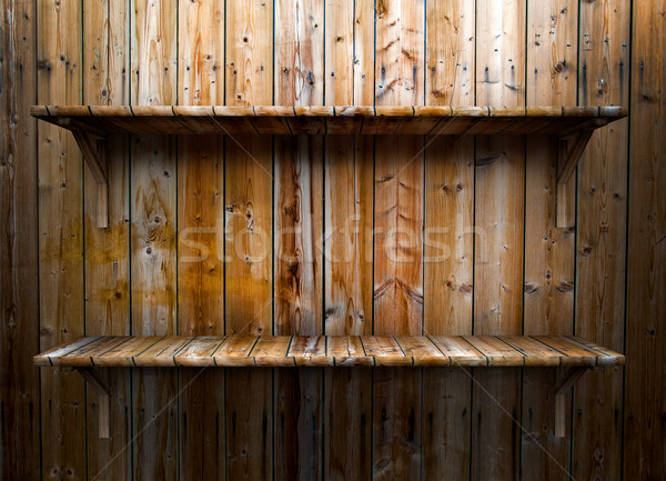 Empty wood shelf Stock photo © cla78