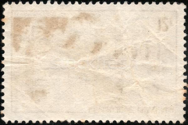 Гранж штампа почтовая марка изолированный черный бумаги Сток-фото © cla78