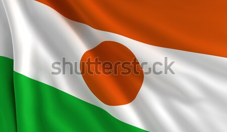 Bandera Níger viento textura fondo blanco Foto stock © cla78