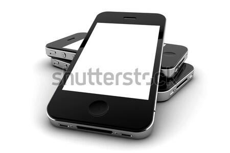 Telefoon geïsoleerd mobiele telefoon scherm exemplaar ruimte internet Stockfoto © cla78