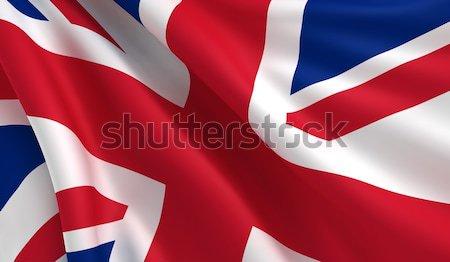Vlag Verenigd Koninkrijk Argentinië wind hemel Rood Stockfoto © cla78