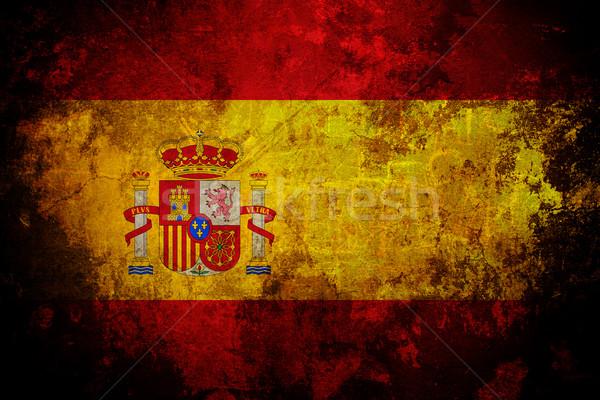 Bandiera Spagna vecchio grunge texture frame Foto d'archivio © cla78