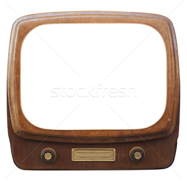 Old framed TV Stock photo © cla78