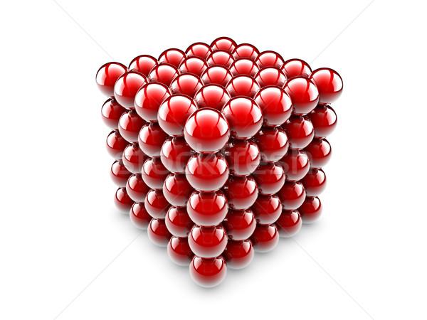 Cube of spheres Stock photo © cla78
