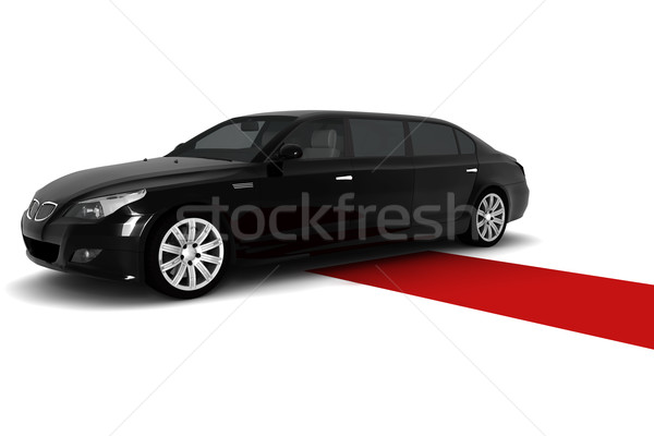 Zwarte limousine rode loper auto film succes Stockfoto © cla78