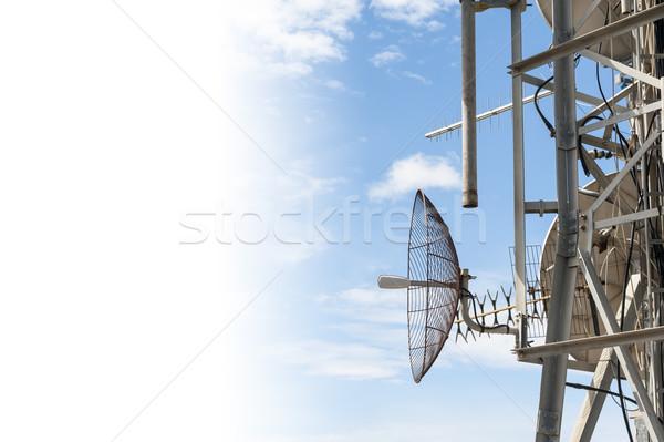 Antena espacio de la copia torre cielo azul blanco Foto stock © cla78