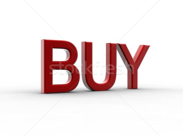 красный купить изолированный белый металл торговых Сток-фото © cla78