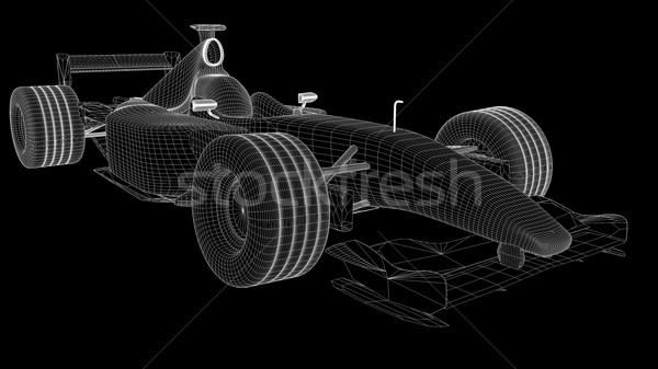 Черно-белые f1 Формулы автомобилей модель путешествия Сток-фото © cla78