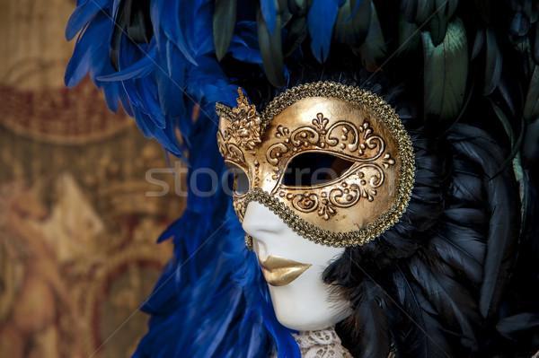 Velencei maszk színes sok részletek nő buli Stock fotó © cla78