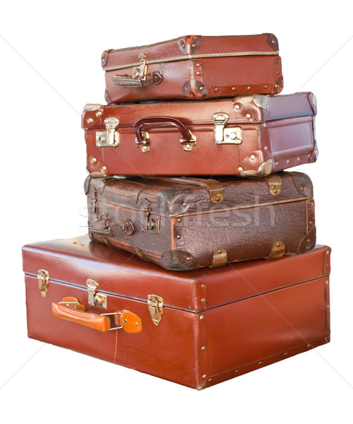 Vintage suitcases Stock photo © cla78