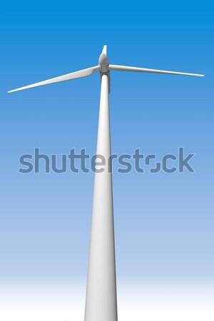 éolienne ciel bleu ciel industrie industrielle énergie Photo stock © cla78